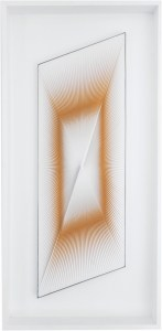 "<span class=""nome_artista"">Alberto Biasi<p class=""nome_opera"">DINAMICA SBILENCA</p><p class=""info_opera"">acrilico e pvc su tavola<br> 1961-65, cm 90 x 31</p></span>"