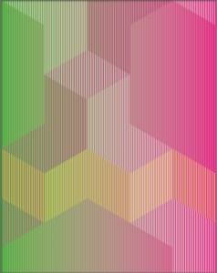 "<span class=""nome_artista"">Sandi Renko<p class=""nome_opera"">KUBIKWINDOW 7, 2016, </p><p class=""info_opera"">aerografo su canneté acrilico 2016, 90 x 70 cm</p></span>"