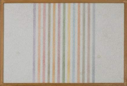 """<span class=""""nome_artista"""">Elio Marchegiani<p class=""""nome_opera""""> Grammatura di colore 1973 </p><p class=""""info_opera"""">supporto intonaco n.57 <br>cm 78x52,5</p></span>"""