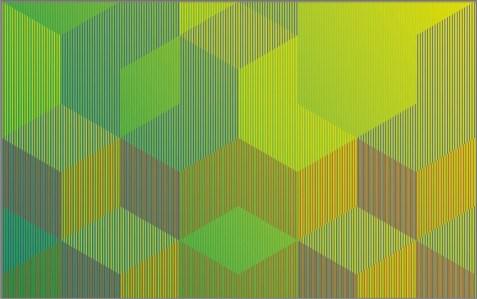 "<span class=""nome_artista"">Sandi Renko<p class=""nome_opera"">KVADRAT 119 </p><p class=""info_opera"">aerografo su lastra sintetica fresata2019, 91 x 145 cm</p></span>"