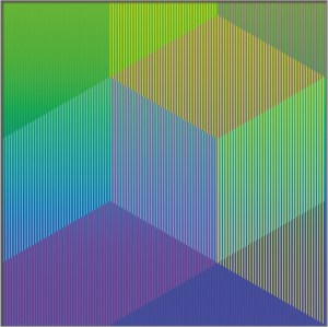 "<span class=""nome_artista"">Sandi Renko<p class=""nome_opera"">KVADRAT 418 </p><p class=""info_opera"">aerografo su canneté acrilico 2018, 61 x 61 cm</p></span>"