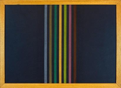 """<span class=""""nome_artista"""">Elio Marchegiani<p class=""""nome_opera""""> Grammature di colore 1974 </p><p class=""""info_opera"""">supporto su lavagna <br>cm 54,5x74,5</p></span>"""