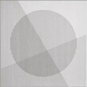 "<span class=""nome_artista"">Sandi Renko<p class=""nome_opera"">SEZIONATURA </p><p class=""info_opera"">china su canneté<br> 1976, 47 x 47 cm</p></span>"