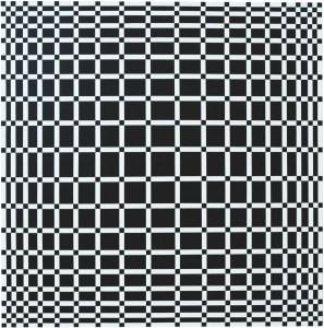 """<span class=""""nome_artista"""">Francisco Sobrino<p class=""""nome_opera""""> SENZA TITOLO</p><p class=""""info_opera""""> acrilico su tela<br>1959-2005, cm 100 x 100</p></span>"""