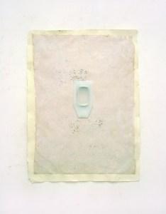 """<span class=""""nome_artista"""">Paolo Radi<p class=""""nome_opera"""">Amnesia </p><p class=""""info_opera"""">Silicone e stucco su carta <br>2008, cm 76x56 </p></span>"""