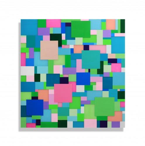 """<span class=""""nome_artista"""">Marco Casentini<p class=""""nome_opera"""">SUMMER VIBRATION</p><p class=""""anno_opera"""">2019</p><p class=""""info_opera"""">acrilico su perspex su alluminio</p>cm 125 x 120</p></span>"""